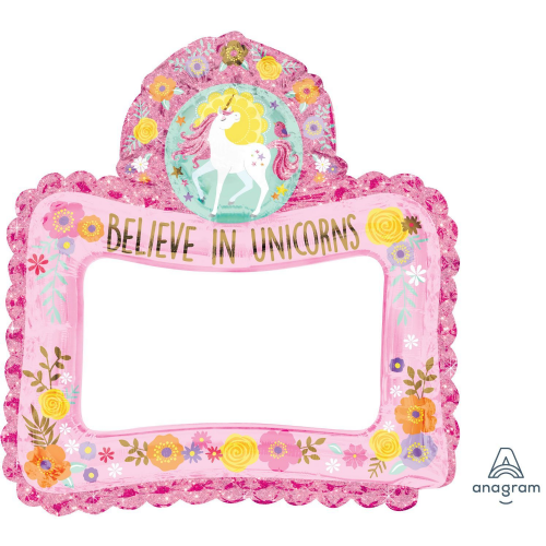 Magical Unicorn Inflatable Foil Selfie Frames